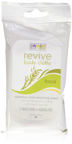 Revive Body Cloth Rosemary Mint Cleansing Focus 12 CT By Aura Cacia
