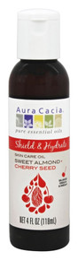 Body & Massage Oils Shield & Hydrate Sweet Almond + Cherry Seed Oil 4 OZ By Aura Cacia