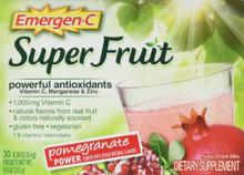 Emergen-C Super Fruit Pomegranate Power 30 CT By Alacer