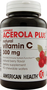 Acerola Plus Natural Vitamin C Chewable 300mg 90 tabs from American Health