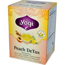Peach Detox Caffeine Free 16 Tea Bags 1.12 oz (32 g) From Yogi Tea