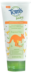 Baby Moisturizing Lotion Fragrance Free 6 OZ From TOM'S OF MAINE