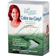 Color the Gray  Natural Hair Color & Conditioner Light Brown 7 oz (197 g) From Light Mountain