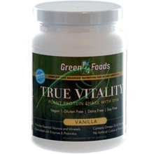 True Vitality Plant Protein Shake with DHA Vanilla 25.2 oz (714 g) From Green Foods
