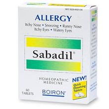 Sabadil Allergy Relief Quick Dissolving Tablets 60 Tablets From Boiron