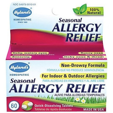 Seasonal Allergy Relief 60 Tablets From Hyland's