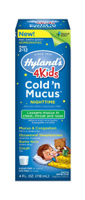 4 Kids Cold'n Mucus Nighttime 4 OZ By Hylands