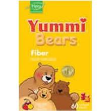 Yummi Bears Fiber Natural Fruit Flavors 60 Gummy Bears From Hero Nutritional