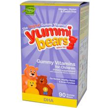 Yummi Bears DHA 90 Gummy Bears Hero Nutritionals