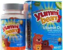 Yummy Bears Vitamin D 60 ct From Hero Nutritional