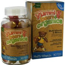 Organic Yummi Bears Multi-Vitamin 90 ct FromHero Nutritional