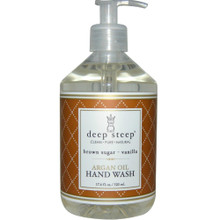 Argan Oil Liquid Hand Wash Brown Sugar Vanilla 17 OZ From DEEP STEEP