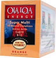 Energy Super Multi-Vitamin Effervescent Orange 30 Packets From Ola Loa Products