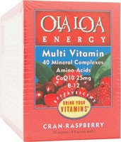 Energy Multi-Vitamin Effervescent Cran-Raspberry 30 Packets From Ola Loa Products