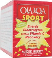 Sport Effervescent Vitamin Drink Mixed Berry 30 Packets From Ola Loa Products