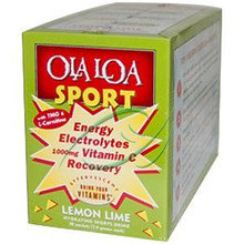 Energy Electrolytes Vitamin C Recovery Lemon Lime 1000 mg 30 Packets (7.4 g) Each From Ola Loa