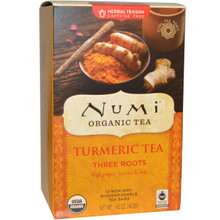 Turmeric Tea Three Roots 12 BAG From NUMI TEAS