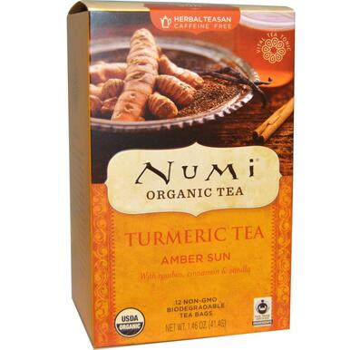 Turmeric Tea Amber Sun 12 BAG From NUMI TEAS