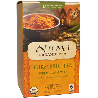 Turmeric Tea Fields of Gold 12 BAG From NUMI TEAS
