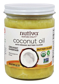 Organic Buttery Coconut Oil 14 OZ By Nutiva