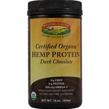 Hemp Protein Powder Certified Organic Dark Chocolate 16 oz Manitoba Harvest
