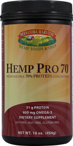Hemp Pro 70 Water Soluble 70% Protein Concentrate 16 oz Manitoba Harvest