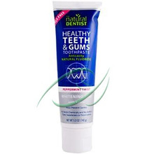 Healthy Teeth & Gums Toothpaste Whitening Plus with Xylitol Peppermint Twist 5 oz (142 g) From Natural Dentist