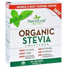 Organic Stevia Sweetener Packets 35 CT By Sweetleaf Stevia