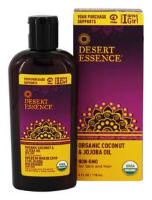 Organic Coconut & Jojoba Oil 4 OZ By Desert Essence