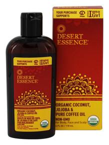 Organic Coconut  Jojoba  & Coffee Oil 4 OZ By Desert Essence