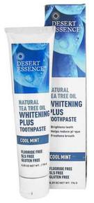 Desert Essence  Natural Tea Tree Oil Whitening Plus Toothpaste Cool Mint  6.25 oz.