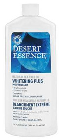 Desert Essence  Natural Tea Tree Oil Whitening Plus Mouthwash Cool Mint  16 oz.