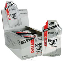 Clif Bar  Shot Turbo Energy Gel with 100mg Caffeine Double Expresso  1.2 oz. 24 count
