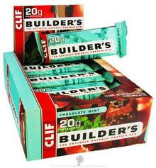 Clif Bar  Builder's Protein Crisp Bar Chocolate Mint  2.4 oz. 12 Count