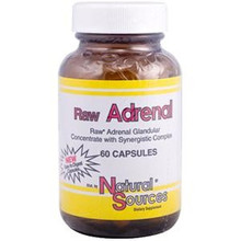 Raw Adrenal 60 Capsules From Natural Sources