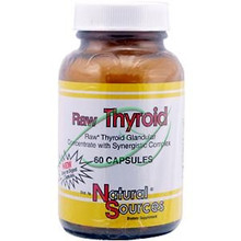 Raw Thyroid 60 Capsules From Natural Sources