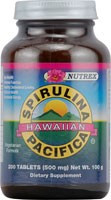 Spirulina Tabs 200 Tablets 500 mg From Nutrex Hawaii