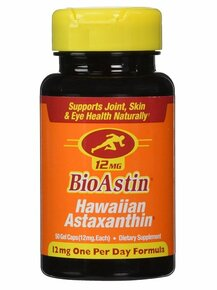 BioAstin Vegan Astaxanthin 12mg 50 SOFTGEL VEGI By Nutrex