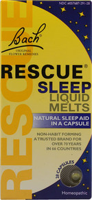Bach Flower Essences Rescue Sleep Liquid Melts 28 Cap