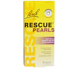 Bach Original Flower Essences Rescue Pearls Natural Stress Relief in a Capsule 28 Capsules