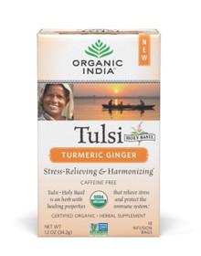 Tulsi Tea Turmeric Ginger 18 BAG By Organic India
