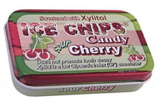 Sour Cherry 1.76 OZ By Ice Chips Candy