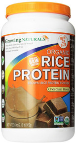 Rice Protein Powder Chocolate Organic 2 LB By Growing Naturals