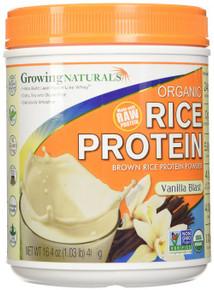 Rice Protein Powder Vanilla Organic 1 LB By Growing Naturals