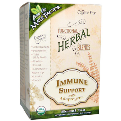 Functional Herbal Blends Immune Support with Adaptogens 20 BAG By Mate Factor