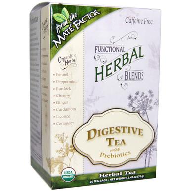 Functional Herbal Blends Digestive Tea with Prebiotics 20 BAG By Mate Factor