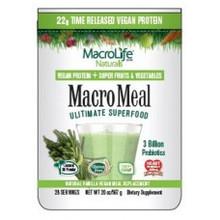 MacroMeal Vegan Vanilla 15 Serving 18.5 OZ By Macro Life Naturals