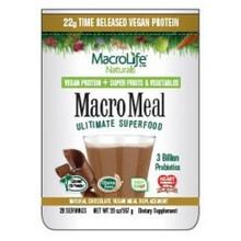 MacroMeal Vegan Chocolate 15 Serving 20 OZ By Macro Life Naturals