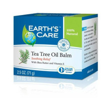 Earth's Care Tea Tree Oil Balm 100% Natural 2.5 oz