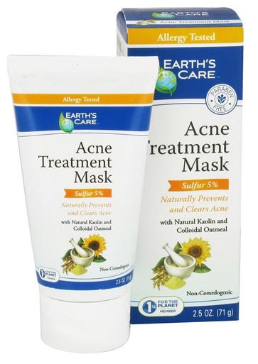 Earth's Care Acne Treatment Mask 5% Sulfur 2.5 OZ